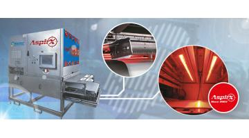 Suction sorter for the food industry