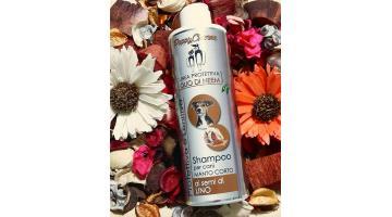 Shampoo per cani a pelo corto all'olio di neem