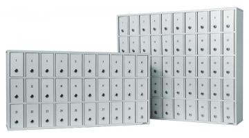 Lockers and safety locks with key
