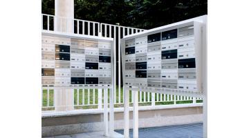 Outdoor condominium post boxes