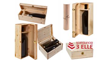 Cassette in legno per bottiglie