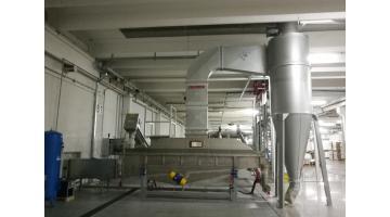 Impianti di essiccazione a letto fluido vibrante