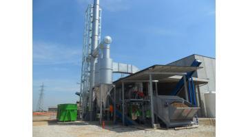 Impianto di essiccazione per prodotti agroalimentari