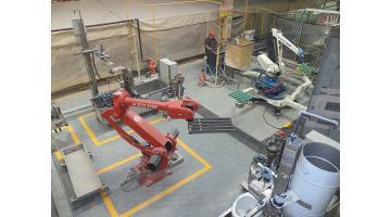 Linea robotizzata smaltatura vasi