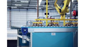 Movimentazione lastre grande formato per industria ceramica e laterizi