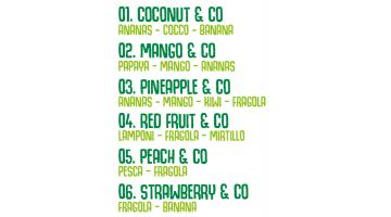 Smoothie 12 flavors