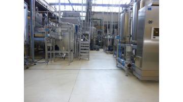 Pavimento in resina per settore conserviero