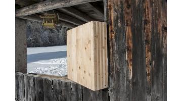 Pareti in legno massiccio senza colla