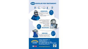 Caschi ventilati per trattamenti antiparassitari