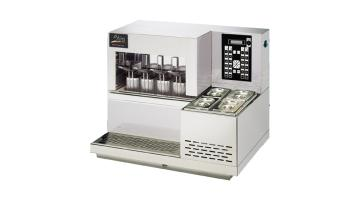 Counter-top pasta cooker with 4 baskets