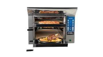 Self-cleaning oven for pizza, bread and gastronomy