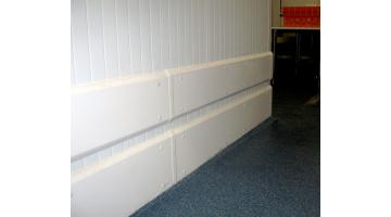 Lastre paracolpi mezza altezza per protezione magazzino