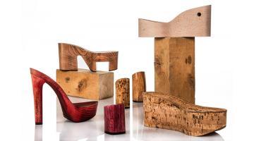 Tacchi zeppe e plateau in legno