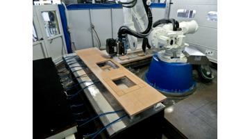 Impianto produzione piani cucina t d robotics - Taglio top cucina ...