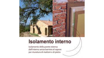 Cappotto interno per isolamento pareti in mattoni e pietra