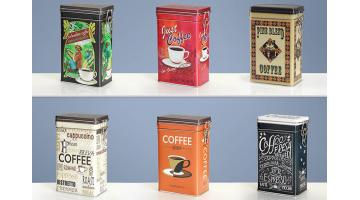Barattoli in latta per caffè