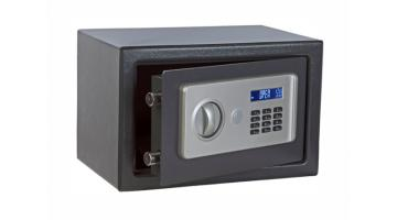 Non-motorized digital safe with front opening