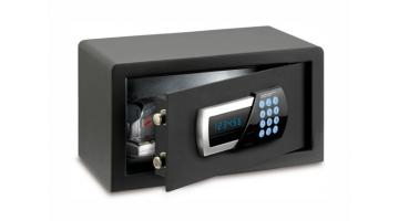 Motorized digital safe with front opening