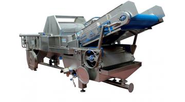 Rumbling machine for fruit and vegetables
