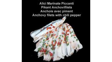 Alici marinate piccanti in vaschetta