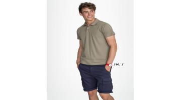 Полу-клетчатая хлопковая рубашка поло для мужчин