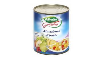 Macedonia di frutta sciroppata confezionata 1 kg