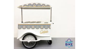Carretto vendita gelati con bicicletta personalizzato