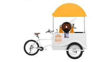 Orangebike: carretto per vendita ambulante spremuta