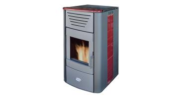 Heating stove Iris Ceramica in red