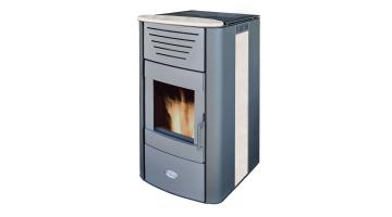 Heating stove Iris White Marble