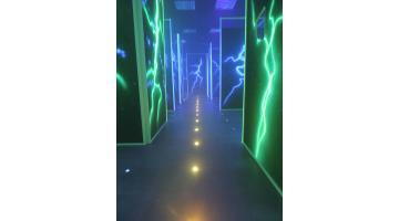 Percorsi led per arena laser