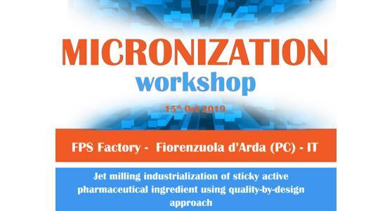 FPS presenta il 3° workshop sulla Micronizzazione