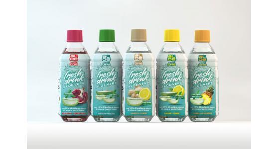 Bevanda a base di aloe vera con 15% di pezzi di polpa - ALOE VERA ONE - DE.CA FOOD