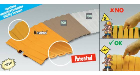 Arriva la sicurezza da maglia gialla… Catena a cerniera C136 versione ANTINFORTUNISTICA