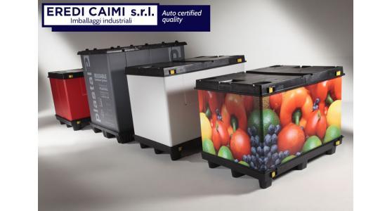 Produzione contenitori e pallets in materie plastiche per movimentazione merci EREDI CAIMI