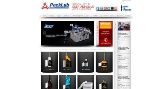 Packlab arriva online con il nuovo sito internet