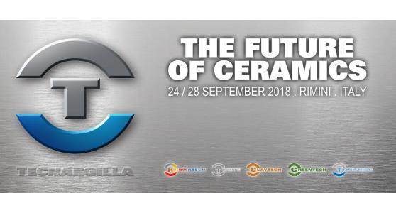 Tecnargilla 2018: torna a Rimini dal 24 al 28 settembre