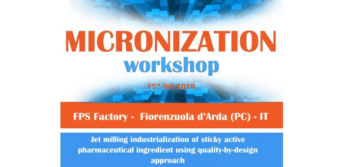 Agenda del terzo workshop sulla micronizzazione